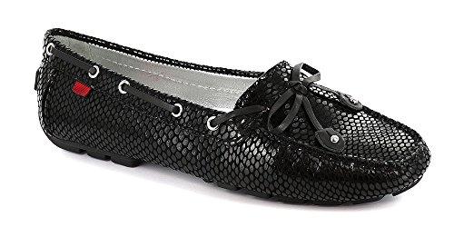 Schwarz Leder Horsebit Loafer (Marc Joseph New York , Damen Mokassins, schwarz - Schwarz / Schlange - Größe: 39,5 EU (M))