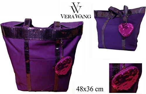 designer-vera-wang-princess-purple-ladies-shoulder-bag-with-pink-sequin-coin-purse