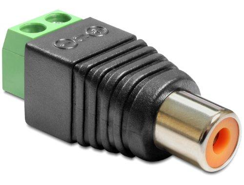 DeLock Adapter Terminalblock > Cinch Buchse