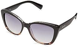 Fastrack Gradient Square Womens Sunglasses - (P368BK2F|55|Black Color)