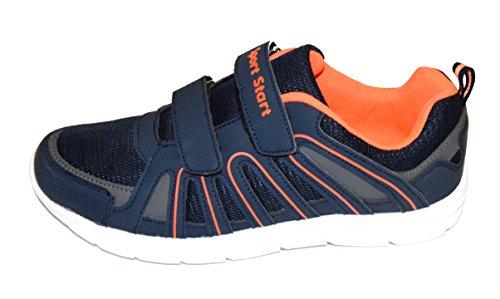 TMX sd167K-7Baskets pour Hommes ou Femmes, Couleur: Bleu foncé/Orange, tailles: une (au 46 Navy/ Orange