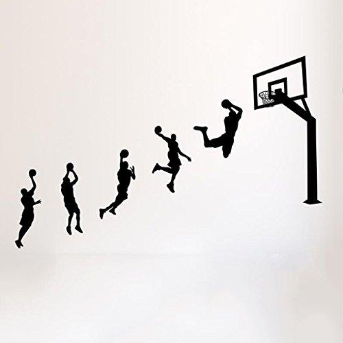 3D kreative Jungen Schlafsaal Wandaufkleber Schlafzimmer Wand Dekorationen Jungen Zimmer Schlafzimmer Layout Basketball Poster (203 * 130 cm)