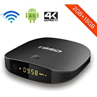 T95D Android 7.1 TV Box with 2GB RAM 16GB ROM RK3229 Quad Core Media Player supports 2.4GHz Wi-Fi Bluetooth H.265 HDMI 2.0 100M LAN Ethernet