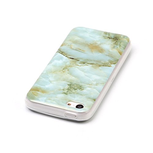 Lotuslnn iPhone 5/5s/SE Conque- Anti-Scratch Protection Etui Pour iPhone 5/5s/SE TPU Silicone Soft Cover iPhone 5/5s/SE( Coque, Stylus Pen ,Screen Protector )-Multicolored Jade
