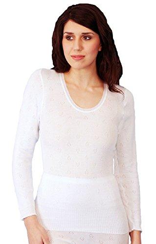 Maglia termica a maniche lunghe donna sottotuta da sci White