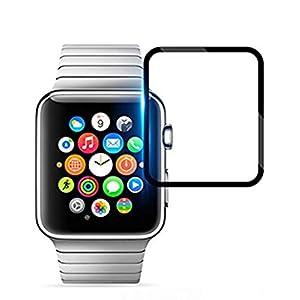Vicstar Apple Watch 4 44mm Schutzfolie, Apple Watch 4 44mm Displayschutzfolie [3D Tempered Glas Folie] Anti-Bubble, Kompatibel mit Abdeckungen, Vollständige Abdeckung für Apple Watch 4 44mm
