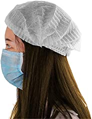 Kodenipr Club Disposable Cap Stretchable White Caps - Head Cover Hair For Cooking & Hygiene(100 Pie