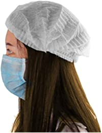Kodenipr Club Disposable Cap Stretchable White Caps - Head Cover Hair For Cooking & Hygiene(100 Pieces)