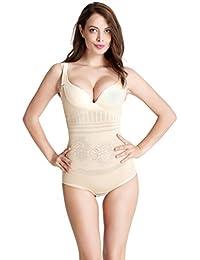 Aibrou Corsé para Mujer de Perfecto Figura con Gancho, Body Fija Moldeadora Posparto Cintura Agradable Shaping Bodysuits Sin Costuras
