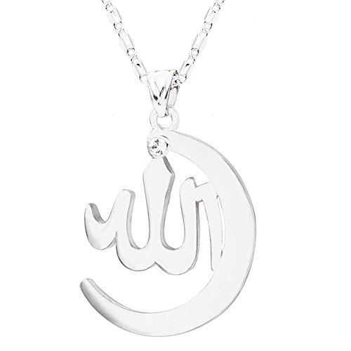 MCSAYS Mode Muslim Allah Gold überzogene hängende Halskette Hip Hop-Kette Islam Religion