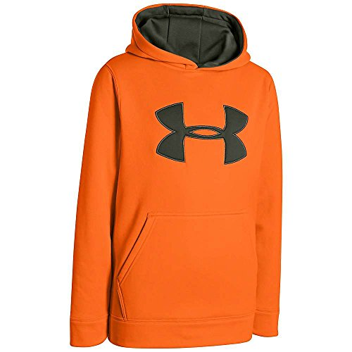 Under armour big boys 'pile di armour® mimetico big logo felpa con cappuccio, unisex bambini uomo, arancio (blaze orange)/timo, m