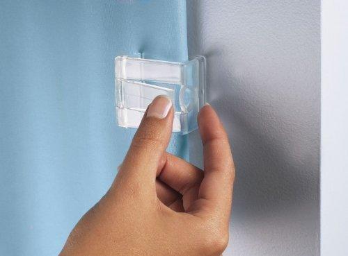 Kleine Wolke Duschvorhang - Klammern Farbe Glasklar 2 Stück thumbnail