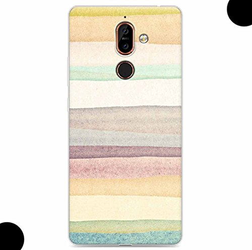 WEIFA 2017 New Nokia105 Soft Case, Very Light Slim Artist Special Geological Layer Picture Style, 2018 Newest Thin Anti-Scratch Cellphone Cover Case for 2017 Nokia 105