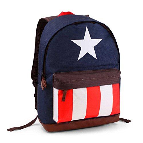 Karactermania Avengers Captain America Zaino Casual, 43 cm, 27 litri, Blu