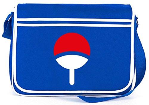 Shirtstreet24, Familie Uchiha, Retro Messenger Bag Kuriertasche Umhängetasche Royal Blau