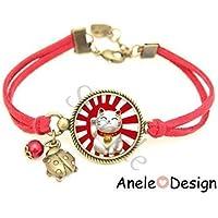 Bracelet Chat Porte Bonheur japonais Maneki Neko