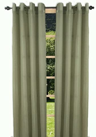 Ricardo Trading Bal Harbor Textured Semi-Sheer Grommet Panel, 52 by 84-Inch, Sage by Ricardo Trading