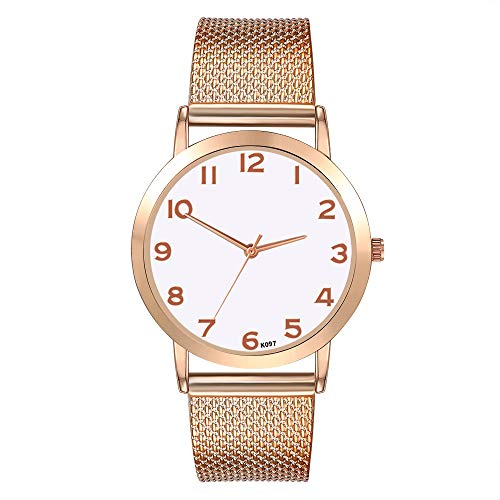 XZDCDJ Damen Uhr Armbanduhr Bracelet Jungen Uhr Damenmode Freizeit Set Auger Leder Edelstahl QuarzuhrB467 -