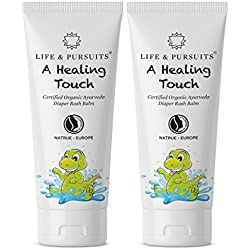 Life & Pursuits: Certified Organic Ayurveda Diaper Rash Cream for Baby, 100% Natural - 40 gm x 2