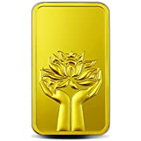 MMTC-PAMP India Pvt. Ltd. Lotus series purity 10 gm 24k (999.9) Gold Bar