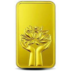 MMTC-PAMP India Pvt. Ltd. Lotus series 24k (999.9) purity 10 gm Gold Bar