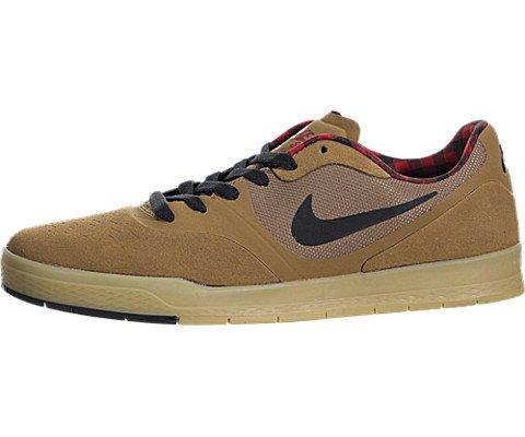Nike Men's Paul Rodriguez 9 CS Ale Brown/Black/Gym Red Skate Shoe 8 Men US