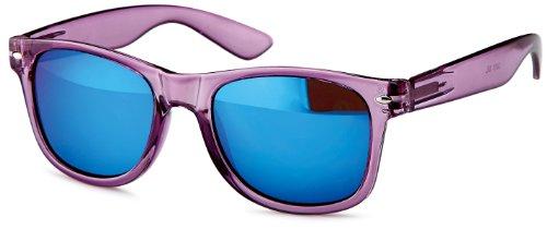 Transparente Sonnenbrillen im wayfarer-style mit verspiegelten Gläsern, Gestell Halb-transparent in trendigen Pasteltönen, Brillentrends 2014