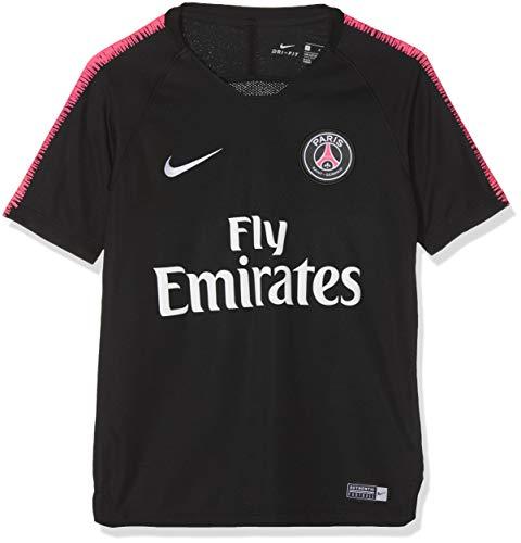 Nike 894394-011 Maillot à Manches Courtes Mixte Enfant, Noir/Hyper Pink/Blanc, FR : M (Taille Fabricant : M)
