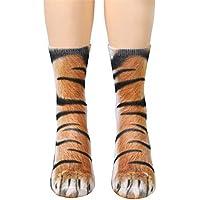 fhcgwz animaux adultes la 5pcs / mis la adultes patte unisexes chaussettes sublimée pour les hommes et les femmes de l'équipage et chaussettes élastique 8c03ad