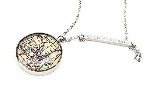 Minneapolis karte halskette - St.paul karte schmuck - jubiläumsgeschenk für sie