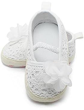 Hongfei Zapatos de niña Decoración de flores para niños pequeños Zapatos de flores huecas para niños