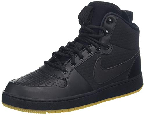 Nike Herren Sneaker Ebernon Mid Winter Gymnastikschuhe Schwarz Black/Gum Lt Brown 001, 47.5 EU
