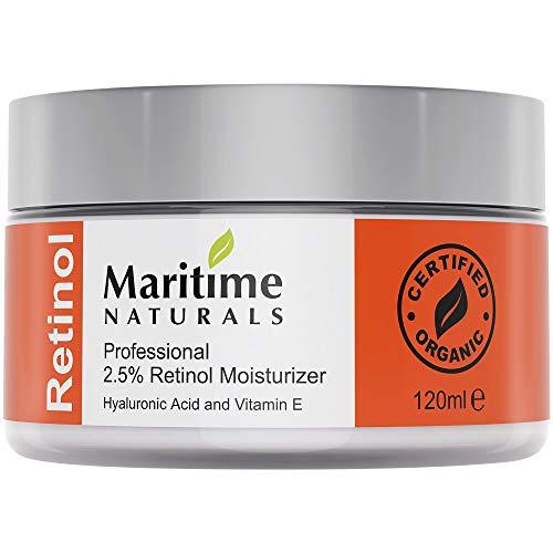Retinol Cream 120ml - Hydratant Visage - avec 2.0% de Retinol - Soin Naturel par Maritime Naturals