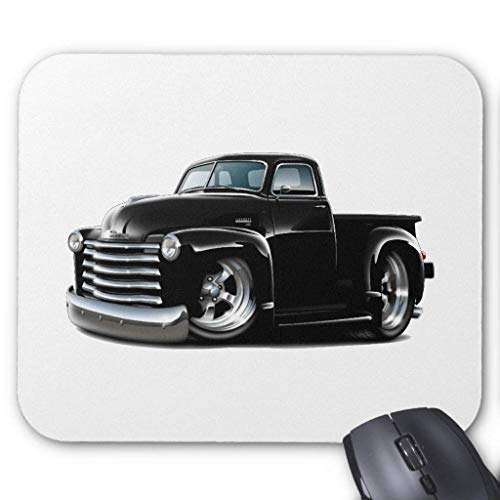 ASKSSD Computer Accessories Anti-Friction Wristband 1950-52 Chevy Black Truck Mouse Pad 18X22