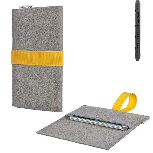 flat.design Handy Hülle Aveiro für Cyrus CS 35 handgefertigte Filz Tasche für Cyrus CS 35