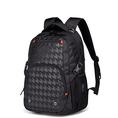 HM3287 Outdoor-Bergsteigen Tasche, Laptop-Rucksack für 15-Zoll-Laptop, Rucksack große Kapazität lässig Mode Rucksack, Business Computer Tasche Student wasserdichte Tasche, (schwarz / Hahnentritt) ( Farbe : Mehrfarbig )