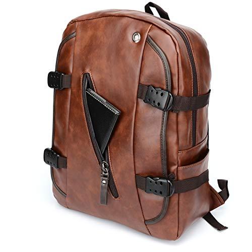 Best Fur Jaden Brown Backpack Bag for Men of Artificial Leather with Laptop Pocket Online 2020 Image 3