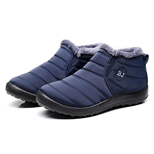 Schneestiefel,Damen Oliviavan Flache Schuhe Schwarz Wildleder Winterstiefel Schlupfstiefel Zwei Arten zu tragen Flacher wasserabweisender kurzen Röhren