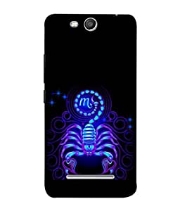 PrintVisa Cancer The Scorpion Zodiac Sign 3D Hard Polycarbonate Designer Back Case Cover for Micromax Canvas Juice 3 Q392