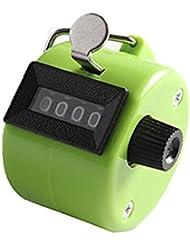 omeny 1pc práctico Handheld contador de 4dígitos pantalla para deporte (verde)