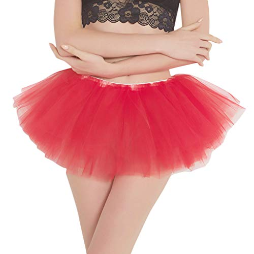 (B-commerce Damen Kurze Röcke - Hochwertige Plissee Gaze Kurzer Rock Tutu Tanzenrock Flauschige Mini Lose Party Club Night Dresses)