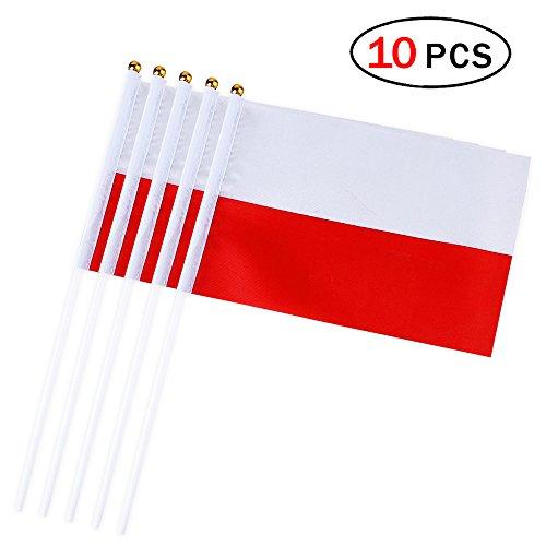 Mein Ji 10 Stück Internationale Flaggen 14 x 21 cm Flaggen Anhänger Verschiedene Länder Nationalflaggen Dekoration Club Bar Dekoration National