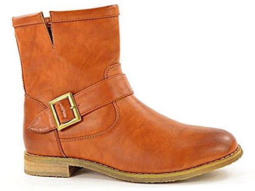 Foster Footwear - Stivali da Motociclista donna Cognac