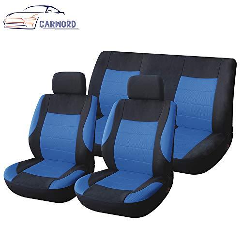 DIY Autositzbezüge Set Mesh Komfortable Schwamm Autoinnenausstattung Rutschfeste und Atmungsaktive Van Für Autos, SUVs und LKWs