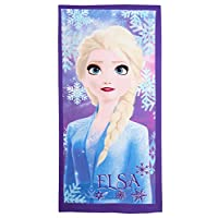 Girls Disney Frozen 2 Beach Towel Kids Elsa Anna Pool Holiday Swimming Wrap