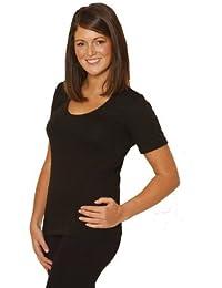 ad856815c20c Octave® Ladies/Womens Thermal Underwear Short Sleeve T-Shirt/Vest/Top