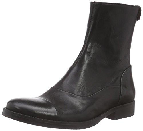 Mentor Mentor Back Zip Boot, Bottes femme Noir - Cuir noirci