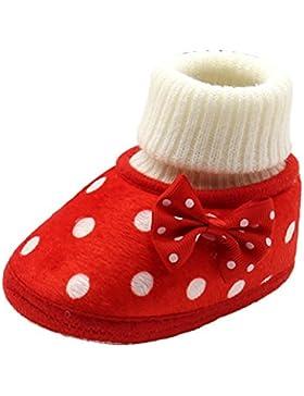 Zhhlinyuan Bebé Girls Kids Winter Warm Cotton Soft Toddler Boots Shoes Gift XSX021