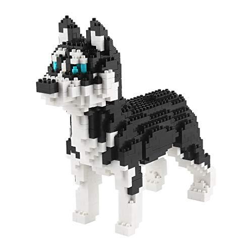 Larcele Mini Hund Bausteine Spielzeug Bricks Haustier Bauen Bauklötze,950 Stücke KLJM-02 (Schlittenhund)