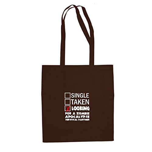 Looking for a Zombie Apocalypse Surival Partner - Stofftasche / Beutel Braun